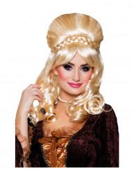 Peluca de baronesa rubia Mujer