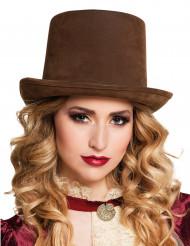 Sombrero de copa marrón adulto Steampunk