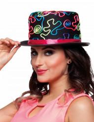 Sombrero de copa de colores adulto