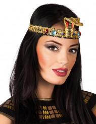 Diadema egipcia con gemas falsas adulto