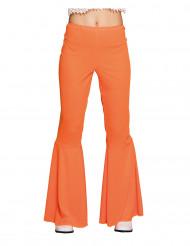 Pantalón disco naranja mujer