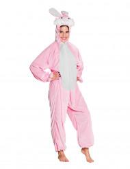 Disfraz de conejo rosa y blanco adolescente