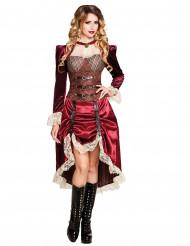 Disfraz de capitana mujer Steampunk