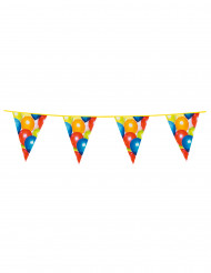 Guirlanda banderines con globos 6m