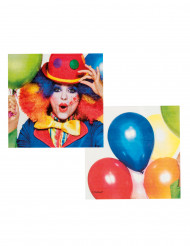 12 Servilletas Clown party 33 x 33 cm