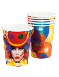6 Vasos Clown party 25 cl