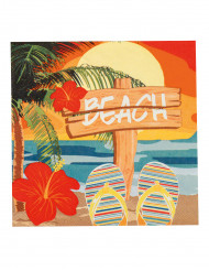 12 Servilletas de papel Beach party 33x33