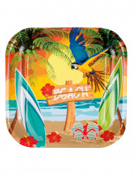 6 Platos beach party 23cm