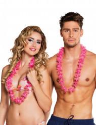 25 Collares hawaianos rosas