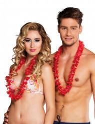 25 Collares hawaianos rojos