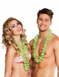 25 Collares hawaianos verdes