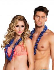 25 Collares hawaianos azules