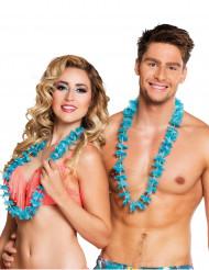 25 Collares hawaianos azul turquesa
