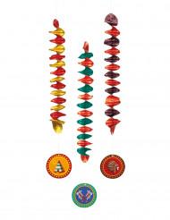 3 Decoraciones colgantes indios 60 cm