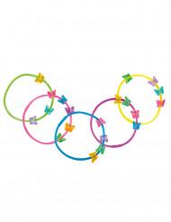 5 Pulseras mariposas de colores