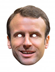 Máscara de cartón Emmanuel Macron