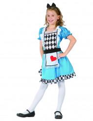 Disfraz Alicia de corazón niña