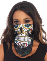 Bandana esqueleto de colores adulto Día de los Muertos