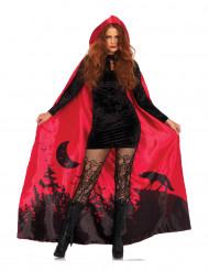 Capa lujo roja mujer