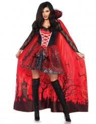 Disfraz vampiresa con capa desprendible mujer