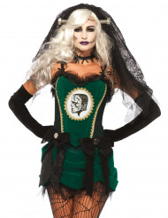 Disfraz novia de monstruo verde mujer Halloween
