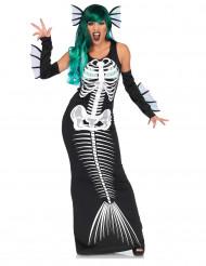 Disfraz sirena esqueleto mujer Halloween