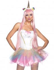 Disfraz unicornio fantasía luminoso mujer