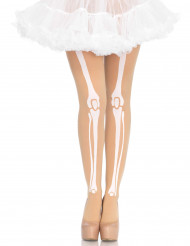Pantys carne esqueleto mujer Halloween