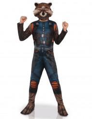 Disfraz con máscara Rocket Racoon™ niño
