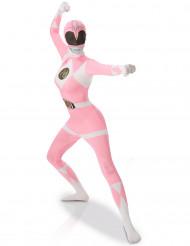 Disfraz Segunda Piel Power rangers™ Rosa Mujer