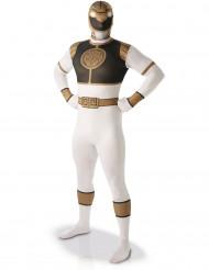 Disfraz Segunda Piel Power rangers™ Blanco Hombre