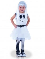 Disfraz fantasma ojos móbiles niña