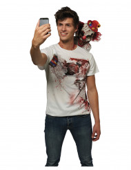 Camiseta selfie escalofriante adulto