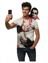 Camiseta selfie Drácula adulto Halloween