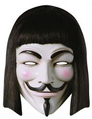 Máscara de cartón V de Vendetta™ adulto.