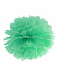 Pompón de papel verde menta 25 cm