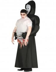 Disfraz tronco humano en manos de segador adulto Halloween