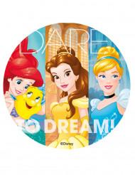 Disco de azúcar Princesas Disney™ 20cm