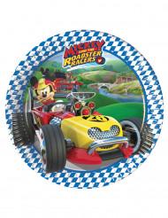 8 Platos de cartón Mickey y los superpilotos™ 20cm
