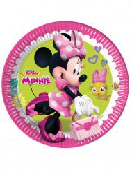 8 Platos de cartón minnie Happy™ 23cm