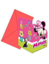 6 Tarjetas de invitación + sobres Minnie Happy™