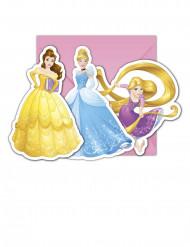 6 Tarjetas de invitación con sobres Princesas Disney Dreaming™