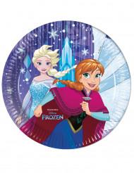 8 Platos de cartón Frozen™ 23cm