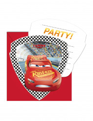 6 Tarjets de invitación con sobres Cars 3™