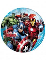 8 Platos de cartón 23 cm Avengers Mighty™