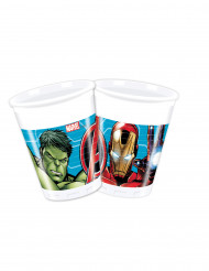 8 Vasos de plástico 200 ml Avengers Mighty™