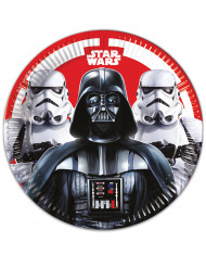 8 Platos de cartón 23cm Star Wars Final Battle™