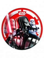 8 Platos de cartón 20cm Star Wars Final Battle™