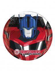 8 Platos pequeños de cartón 20 cm Transformers RID™