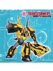 20 Servilletas de papel 33x33 cm Transformers RID™